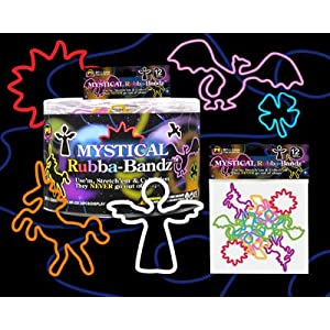 Shaped Rubber Bands Bracelets 12Pack Mystical RubbaBandz