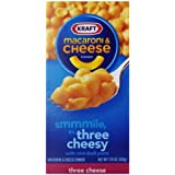 Kraft Macaroni and Cheese, Three Cheese, 7.25-Ounce Boxes (Pack of 8)