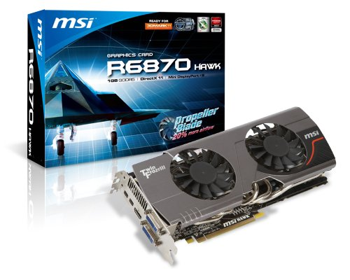 MSI R6870 Hawk - Graphics adapter - Radeon HD 6870 - PCI Express 2.1 x16 - 1 GB GDDR5 - DVI, HDMI, DisplayPort ( HDCP )