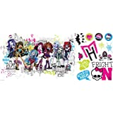 Roommates Rmk2256Gm  Monster High Group Peel And Stick Giant Wall Decals