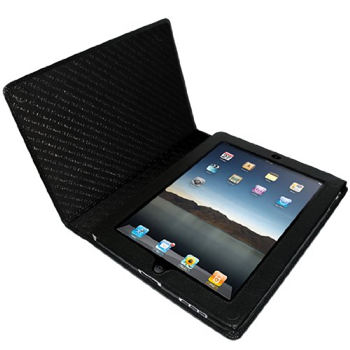 Piel Frama Premium Leather Case with MAGNETIC Closure for the Apple iPad (1st Generation) (Black)
