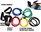 11pcs in 1 Set Fitness Resistance Bands Exercise Tubes Practical Elastic Training Rope Yoga Pull Rope Pilates Workout Cordages