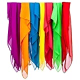 EarlyWorld Play Silks 7-Color Chiffon Cloth Set For Creative Play, Costumes, and More