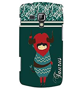 ColourCraft Zodiac Taurus Back Case Cover for SAMSUNG GALAXY S DUOS S7562