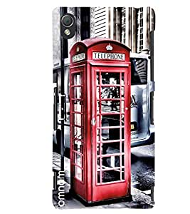 Omnam Telephone Booth Printed Designer Back Cover Case For Sony Xperia Z3