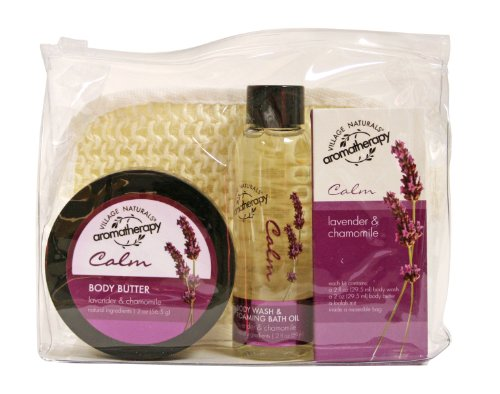 Village Naturals Aromatherapy Calm Lavender & Chamomile Trial Kit