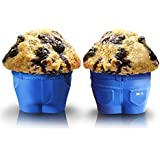 "Set of 6 Mr Muffin - ""Muffin Top"" Bake Cups! These Novelty Jean Shaped Silicone Bake Cups Create a Hilarious ""Muffin Top"" Look As the Batter Rises And Spills Over the Waistband! A Must Have for Fathers Day and The Best Christmas Gifts! Delight Your Guests with these ""Cheeky"" Baking Molds And Share A Laugh And A Delicious Muffin Or Cupcake Today! With Mr. Muffin Baking Cups You'll Also Receive a FREE Recipe E Book ""Gourmet Cupcakes"" This Ebook Includes 50 New, Trending Cupcake Recipes!"