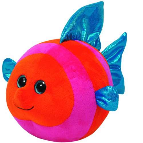Ty Beanie Ballz Splashy Orange/Pink Fish Regular Plush