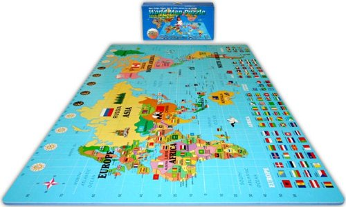Picture of Alessco World Map Foam Puzzle Floor Mat (B002XDVS6M) (Puzzle Play Mats)
