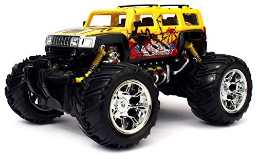 Graffiti H2 SUV Electric RC Truck 1:16 Scale Big Size Off Road Monster Truck RTR Ready To Run, High Quality (Colors May Vary) (Hummer H2 Truck compare prices)