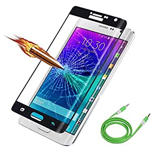 ( Pack of Two ) one Aux Cable in any one colour & Full Screen Two Anti-scratch Laser-cut tempered glass Protectors with Curved Edge, Cover Edge-to-Edge, Protect Your Phone from Drops & Impacts, HD Clear, Bubble-free Shockproof It's pressure-resistant & delivering an outstanding durability for your Smart Phone - Asus Zenfone 2