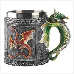 Taza de café en forma de Dragón medieval - Royal Dragon Mug Serpent Medieval Collectible Stein Precio: $17.76