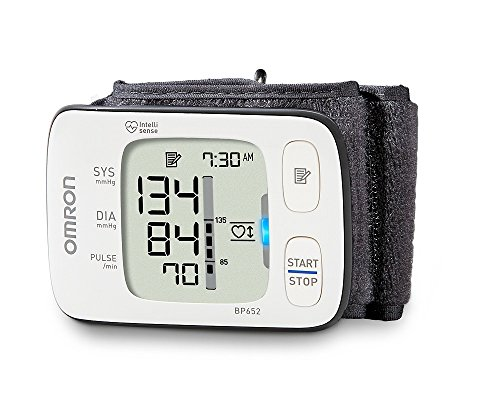 Omron 7 Series Wrist Blood Pressure Monitor Clinically Proven Accurate with 100 Memory Storage, Heart Zone Guidance and Irregular Heartbeat...