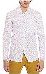 Oshano Men's Casual Shirt (OSH_022_xl, White, xl)