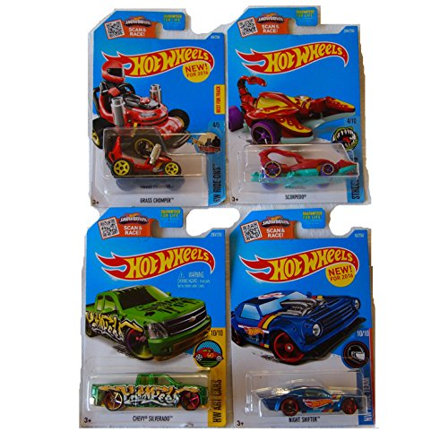 [New Hot Wheels Toy Car Custom Bundle of 4] (Batmobile Stroller Costume)