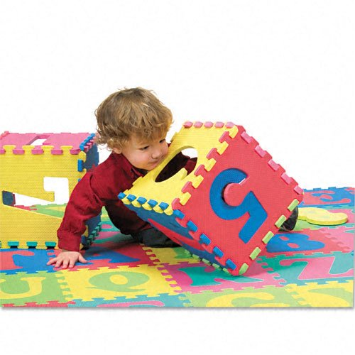 Chenille Kraft Products - Chenille Kraft - Wonderfoam Letters & Number Puzzle Mat, 72 Pieces/Pack - Sold As 1 Pack - Discover the world of WonderFoam! Great for early learners at home and in the classroom. - Promotes learning of ABCs and 123s. - Large, easy-to-handle foam pieces interlock. - Comes in a strong, plastic, zippered storage bag with handle. - Contains 72 pieces.