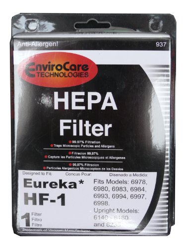 (30) 60286 Eureka Hf-1 Hf1 Hepa W/Activated Charcoal Vacuum Filter, True Hepa, Excalibur, Europa, Oxygen & Whirlwind Canisters, Whirlwind Upright Bagless Series, Sanitaire Precisions & System Pro, Red Electrolux Canister Vacuum Cleaners, 60286A 60286B 602