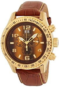 Ritmo Mundo Men's 232 Tiger Eye YG Extreme Quartz Chrono Watch