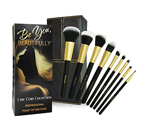 BEST SELLING Professional 8 Piece Makeup Brush Set with Designer Case Plus BONUS Stippling Brush. Hand-Made Powder, Foundation, Concealer, Eyeshadow Brushes and More. Professionally Endorsed. (Sigma Detail Brush compare prices)