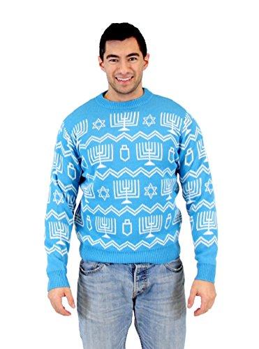 Hanukkah Symbols Pattern Ugly Sweater