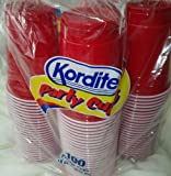 KORDITE DISPOSABLE RED PARTY CUP, 18 OZ (100ct)
