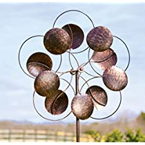 Oversized Bronze Circles Metal Wind Spinner