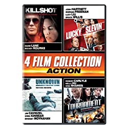 Action Quad (Killshot, Lucky # Slevin, Unknown, The Tournament)