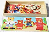 Wooden Bear Family Dress-up Puzzle Box - Fun Jigsaw Puzzle