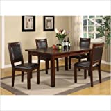 Alpine Lodge 5 Piece Dining Table Set in Cherry