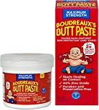 BOUDREAUX Butt Paste Diaper Rash Ointment Kit Maximum Strength-1-14 Ounce Tub and 1-2 Ounce Tube Included in Kit