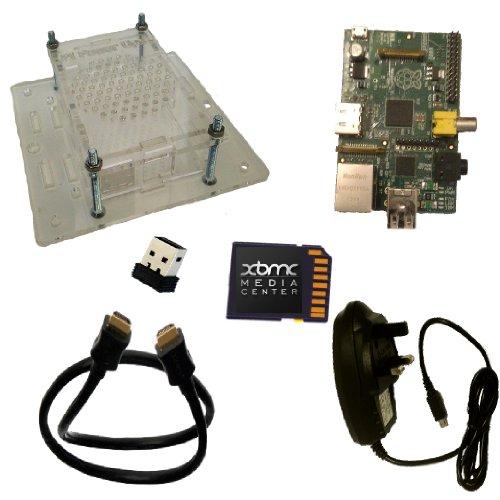 Raspberry Pi 512 model B with XBMC media centre TV mount WiFi starter Kit (16 GB SDHC class 10 with XBMC Black Friday & Cyber Monday 2014