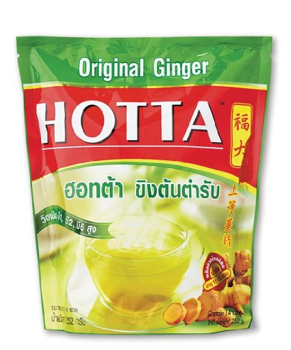 Hotta Ginger Original Instant Powder 18G X 14 Sachets Best Seller Of Thailand