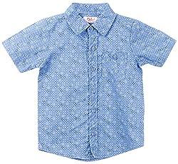 Oye Boy'S Half Sleeve Shirt - Dark Blue (4-5Y)