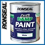 Ronseal Anti Damp Paint White - 2.5 L...