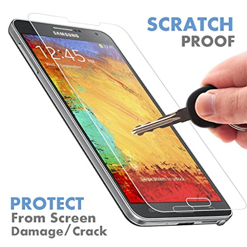 Samsung Galaxy Note 3 ★ PREMIUM QUALITY ★ Tempered Glass Screen Protector by Voxkin ® - Top Quality Invisible Protective Glass - Scratch Free, Perfect Fit & Anti Fingerprint - Crystal Clear HD Display (3m Protective Shield compare prices)