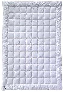 Billerbeck 5106640001 Naturdecke Baumwolle Vanessa Superlight, 135 / 200 cm weiß