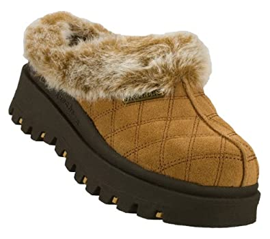 Skechers Shindigs Miracle Womens Suede Clogs Chestnut 6