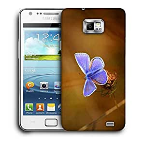 Snoogg Unique Butterfly Printed Protective Phone Back Case Cover For Samsung Galaxy S2 / S II