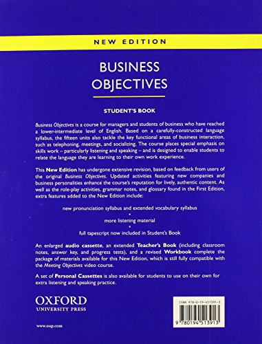 Business Objectives New Edition: Student's Book