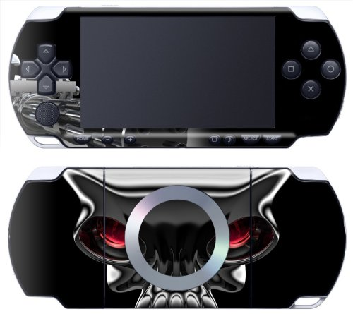 Sony PSP Slim &amp; Lite - Modding Skin [Metall Skull], Sony PSP