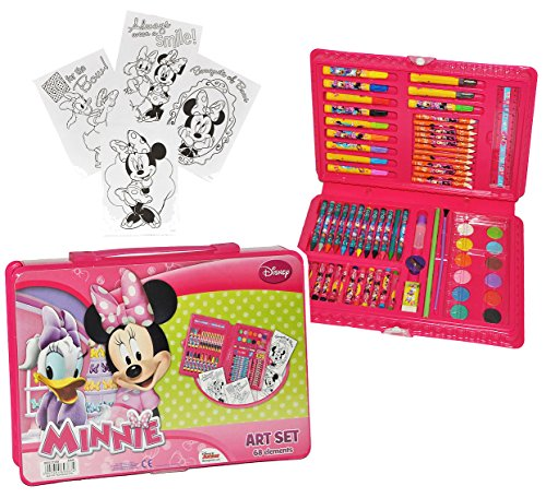 xl set stifte koffer 71 tlg minnie mouse malkoffer mit stiften und farben kinder. Black Bedroom Furniture Sets. Home Design Ideas