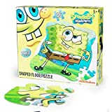 Nickelodeon SpongeBob Shaped Floor Puzzle YELLOW
