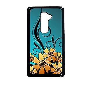 Vibhar printed case back cover for LG G2 GoldFloral