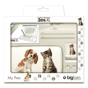 Pack d accessoires 7 elements chien et chat pour 3ds xl for Housse nintendo 2ds xl