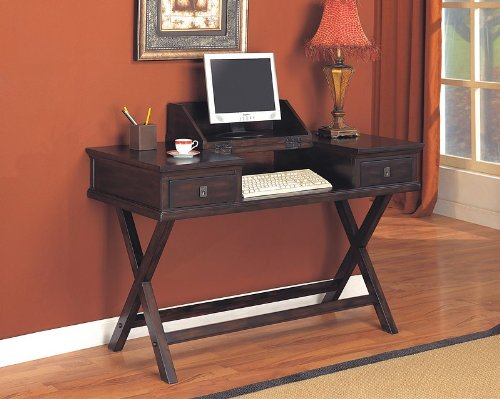 Buy Low Price Comfortable Rich Tobacco Finish Drop Down Home Office Computer Desk (B000I1AKX8)
