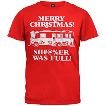 Christmas Vacation Merry Christmas Shitter Was Full Men's Red Tee Small
