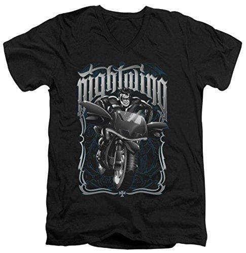 Batman Nightwing: Biker Slim Fit V-Neck T-Shirt