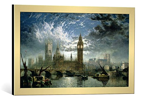 image-encadree-john-macvicar-anderson-a-view-of-westminster-abbey-and-the-houses-of-parliament-1870-