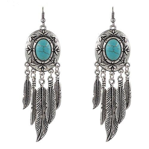 Modern Fantasy Three Petal Silver Leaf Pendant Ancient Style Earring