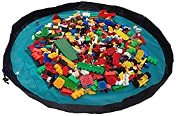 Children Play Mat and a Toy Storage Bag from Bow-Tiger - Multi Purpose Kid\'s Activity Mat That Folds to a Portable, Toy Organizer. Make Sure Your Child is Having Fun Without Worrying About The Mess!